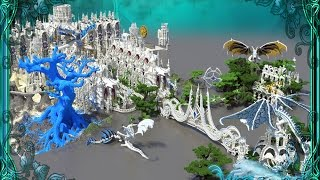 Minecraft Mega-Build Temple of the spirit wolf by Katariawolf Mega building 25% finish +Download