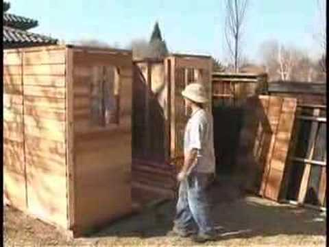 Garden Sheds 9x6 shed howto - 9x6 cedar shed cabana assembly - youtube