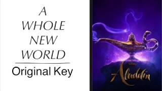 A Whole New World (Original Key) [From Walt Disney's Aladdin] [Piano Instrumental Karaoke Track]
