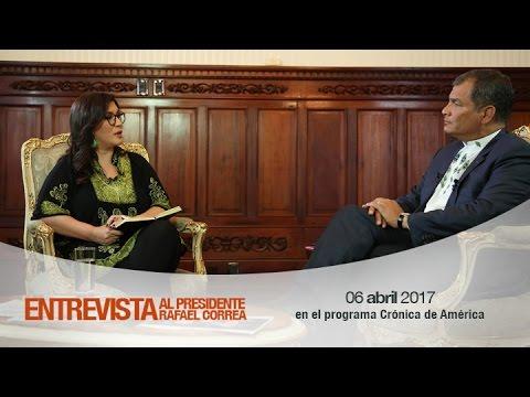 Entrevista al Presidente de la República, Rafael Correa, en el programa Crónica de América