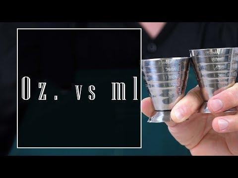 Home Bar Basics: OZ vs ML