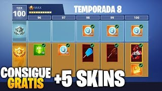 FORTNITE GIVES YOU 5 SKINS FREE (+ BATTLE PASS) Season 8