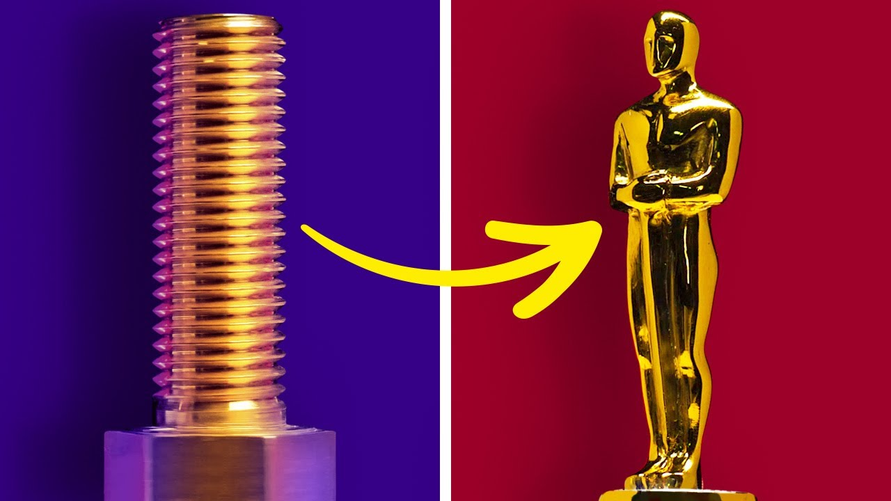 EASY WAY TO MAKE GOLDEN TINY FILM AWARD FROM A BOLT    Amazing Crafts by 5-Minute DECOR!