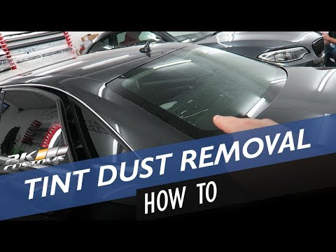 How to remove window tint dust and tinting rear window on a saloon car!