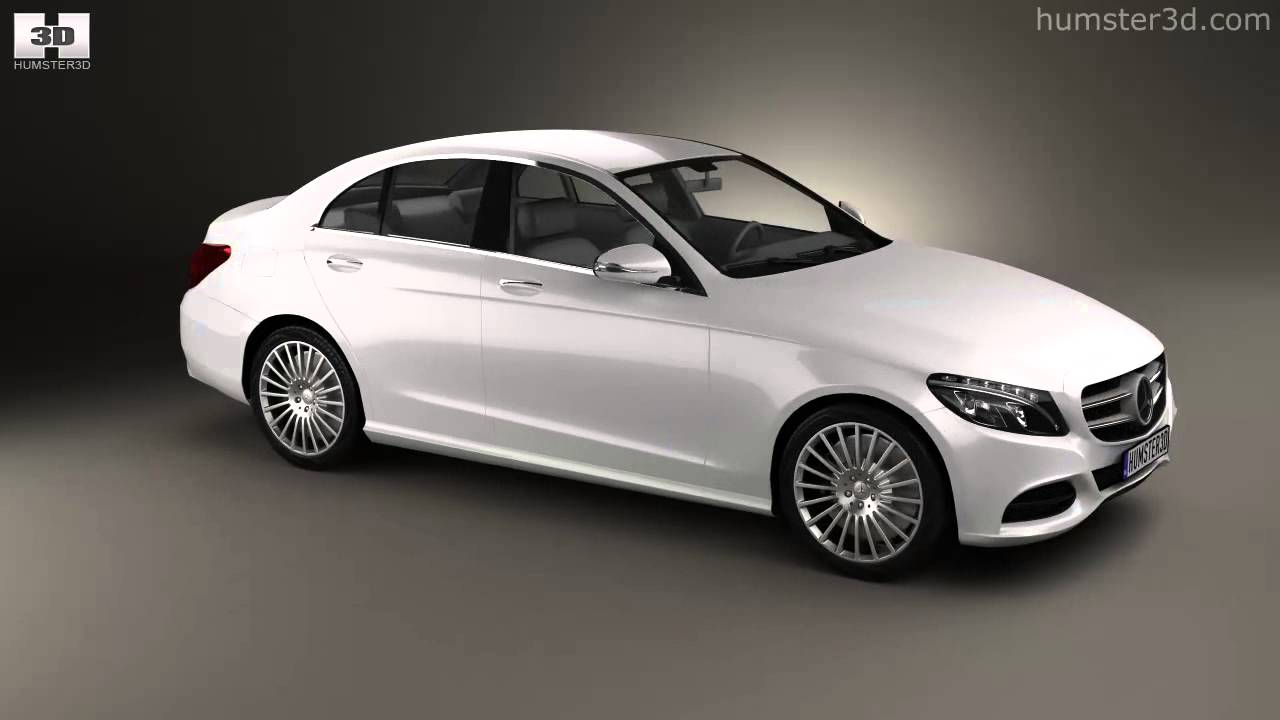 mercedes benz c class w205 sedan 2014 by 3d model store. Black Bedroom Furniture Sets. Home Design Ideas