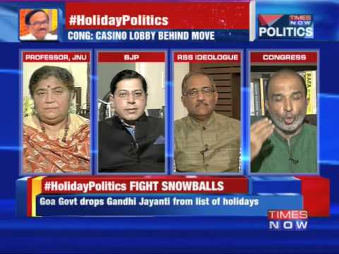 The Debate - Goa Holiday Politics - Dropped Gandhi Jayanti from Public Holiday List