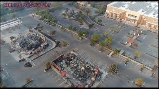 Wildfire 2017 California-Drone footage-KMart Burned -Trees Untouched!!!!Officials Asked about DEW