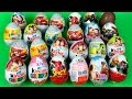 24 Surprise Eggs Kinder Surprise Cars Spiderman Monsters Inc. unboxing Hello Kitty Planes