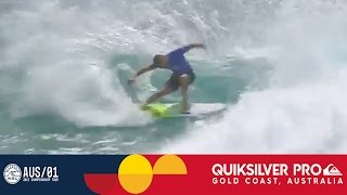 Fanning Steals the Heat from Flores - Quiksilver Pro Gold Coast 2017 Round One, Heat 7
