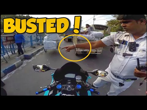 Fined For LOUD EXHAUST 😭 BUSTED! Cop VS Biker