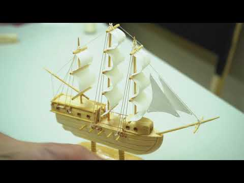 Hand-Craft Wooden Sailing Ship for Souvenir and Gift | DIY Miniature Seacraft | Wooden Craft Ideas