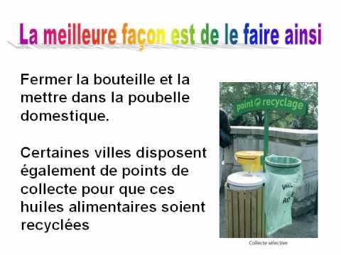 ou jeter l'huile des fritures et ne pas polluer l'eau ? - youtube