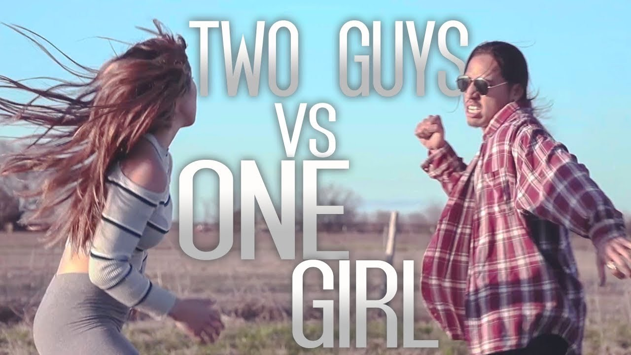 2 MEN VS 1 GIRL - FIGHT SCENE