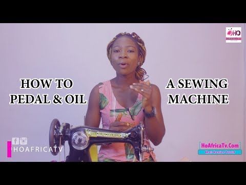How To Pedal & Oil A Sewing Machine