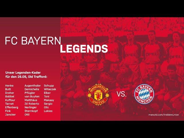 LIVE 🔴   Manchester United - FC Bayern Legends   Neuauflage des Champions-League-Finales von 1999