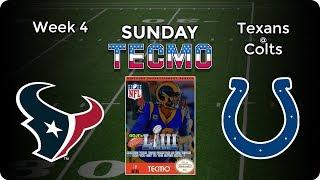 Houston Texans at Indianapolis Colts   NFL Week 4   Tecmo Super Bowl LIII [2019]