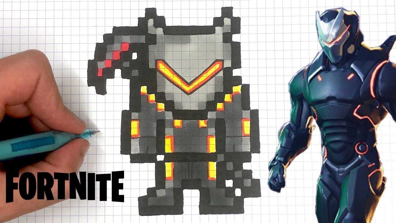 How To Draw Omega Pixel Art Fortnite