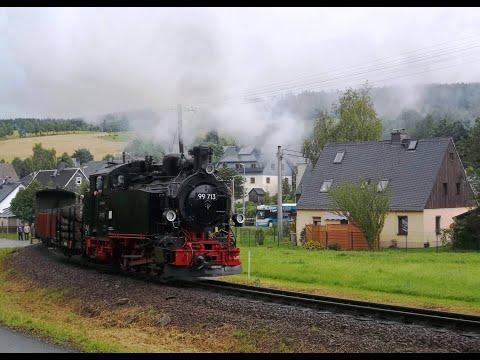 120 Jahre Fichtelbergbahn. 99 713 dampft mit einem GmP durch Neudorf. Freitag, 11. August 2017