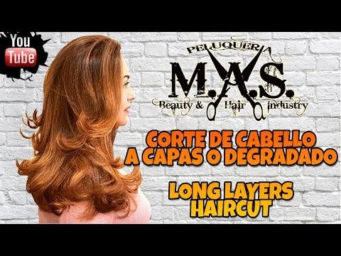 Corte de Cabello a Capas Largas,Degradado,Degrafilado o Desfilado.Long Layers Haircut,Hair tutorial