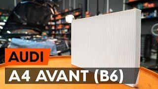 Смяна Филтър въздух за вътрешно пространство на AUDI A4: техническо ръководство