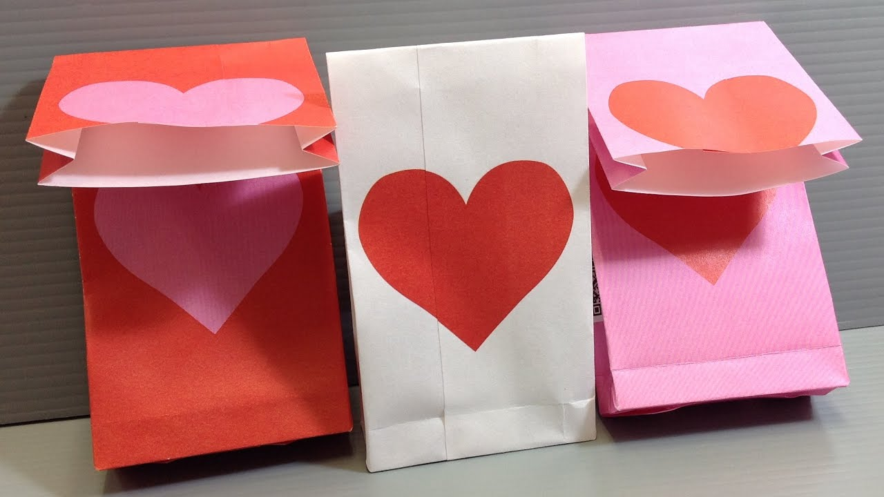 Origami Valentine Heart Gift Bags Print Your Own YouTube – Print Your Own Valentines Card
