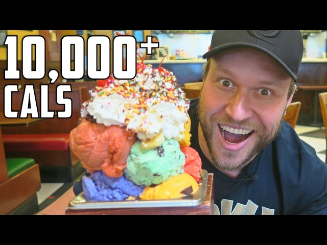 Massively Giant Ice Cream Sundae Challenge 10 000 Calories