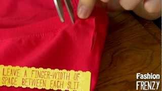 Fashion Frenzy - Episode 1: Braided T-shirt Neck Diy