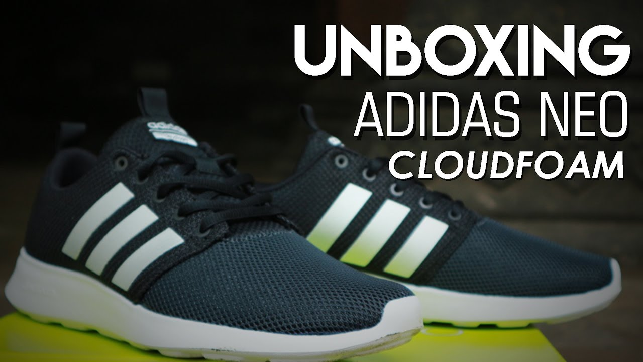 4b590b3a4 ADIDAS NEO Cloudfoam Swift Race - Unboxing and Overview - YouTube