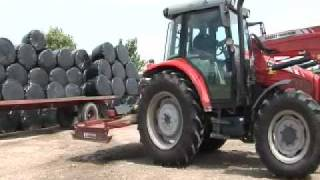 The Massey Ferguson 5455 in action