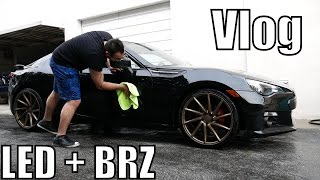 homepage tile video photo for LED DRL + Subaru BRZ Car Wash Vlog Day