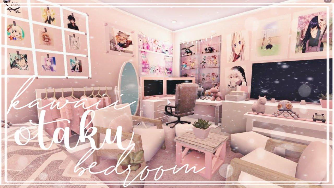 Roblox Bloxburg Kawaii Otaku Bedroom L Tour Speedbuild Youtube