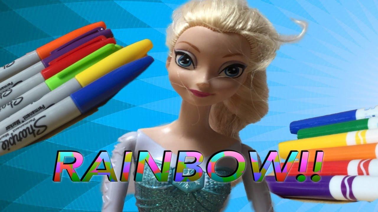 dye frozen queen elsa's