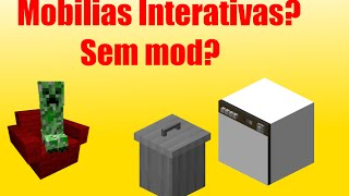 Minecraft: Comando de Mobilias Interativas?! | 1.8/1.8.3/1.8.8
