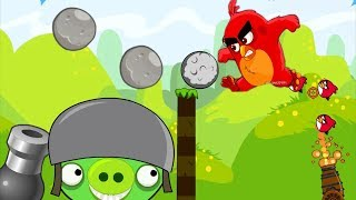 Angry Birds Cannon Collection 1 - THROW STONE AND BLASH BAD PIGGIES!!
