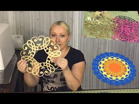 Doily placemat cricut paper decor Martha Stewart circle edge punch starter set wedding shower DIY