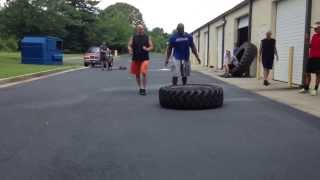 Tire flipping and farmers walk