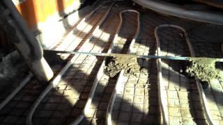 76-23 - Устройство бетонного пола(Поэтапный видеоотчет хода строительства объекта №76. Бассейн в Нагаево. Застройщик: Строительная Компания..., 2015-06-25T13:23:23.000Z)