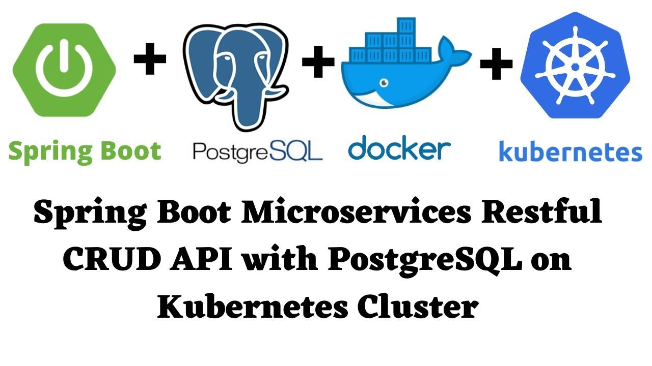 Build and Run Spring Boot PostgreSQL Restful CRUD API Application on Kubernetes Cluster