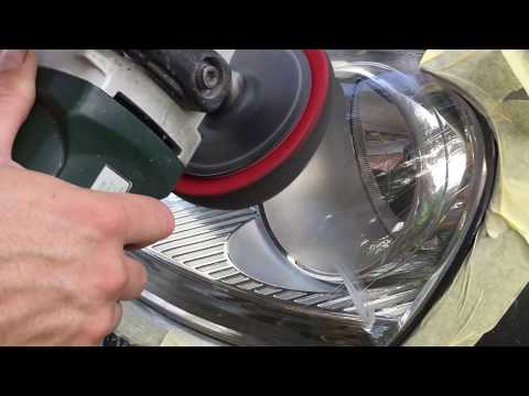 How to clean your headlights: VW Golf MK5 2008 Bluetec / Poliranje farova