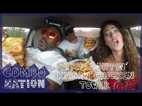 We Try Zaxby's Triple Dippin' Kickin' Chicken Tower | COMBOnation