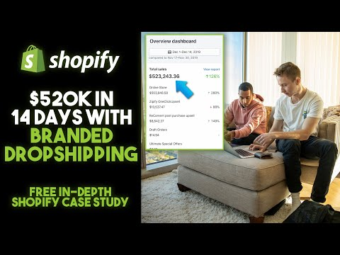 (Free Course) $523k In 14 Days With Branded Dropshipping (Shopify 2020 Case Study) thumbnail