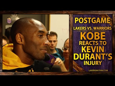 Lakers' Kobe Bryant Reacts To Kevin Durant's Foot Injury