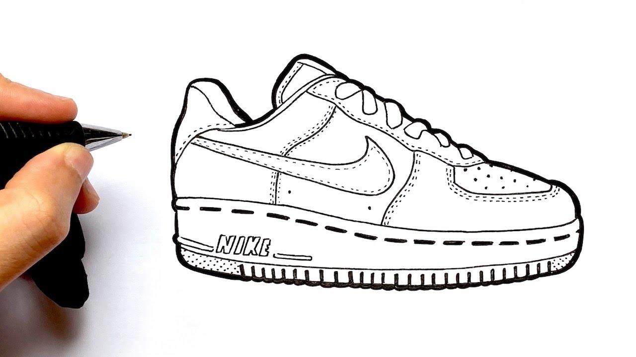 opción Naturaleza compañera de clases  Como Dibujar Air Force 1 Nike - YouTube