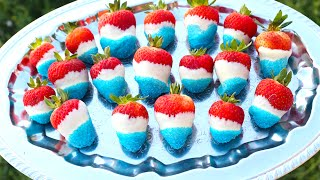 4th Of July Chocolate Covered Strawberries!