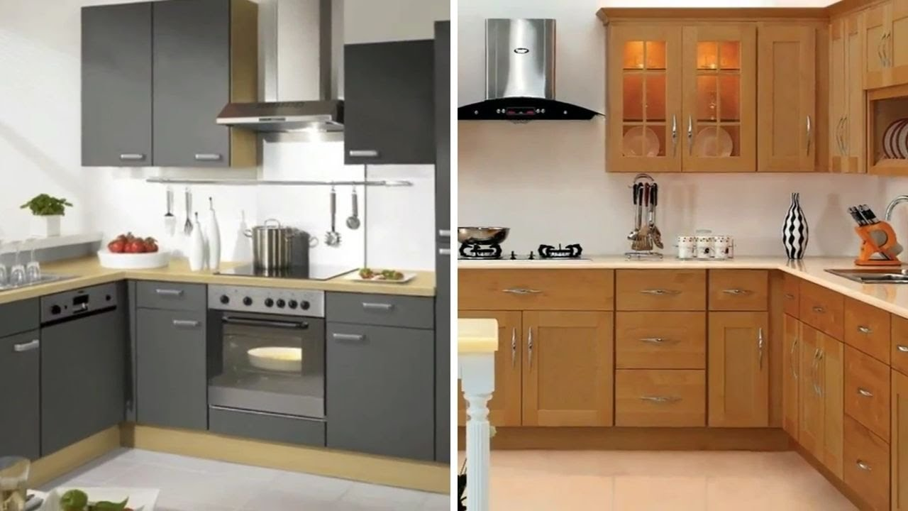 Simple kitchen cabinet design - YouTube