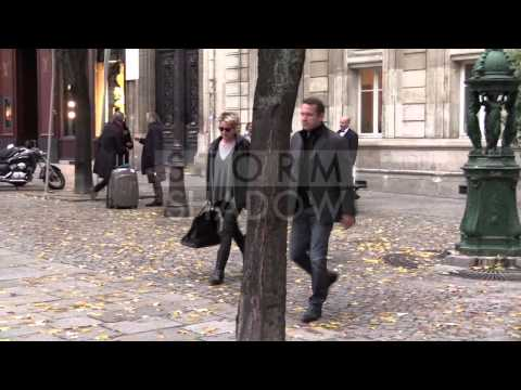 EXCLUSIVE - Sharon Stone leaving La Societe Restaurant in Paris