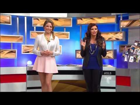 Carolina Sandoval thick hips; Rashel Diaz tight pants, legs & high heels (1-21-14)