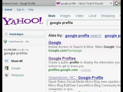 how to get google search andrew kwok
