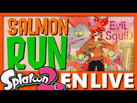 DÉCOUVERTE DU MODE SALMON RUN ! EvilSquid en Live