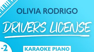 Olivia Rodrigo - drivers license (Karaoke Piano) Lower Key